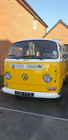 "A Kentish Retreat with ""Harold"" a classic VW bus"