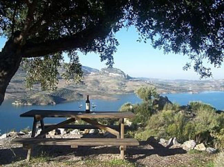 Spectacular views from picnic bench
