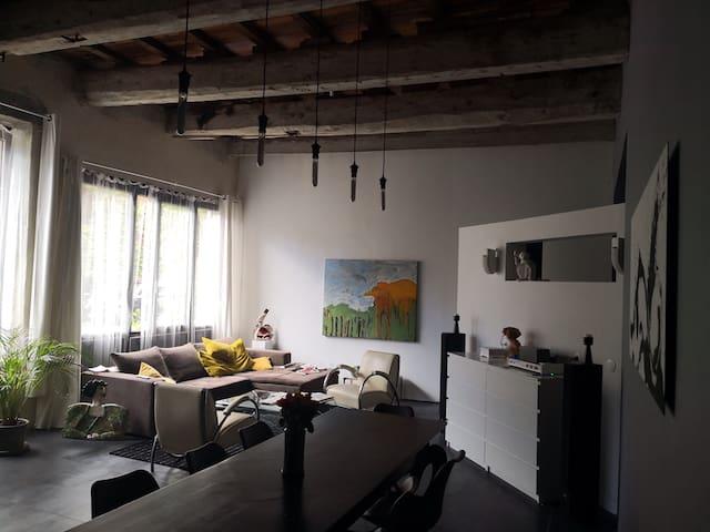 Loft d'artiste 90m2 dans ancienne usine textile