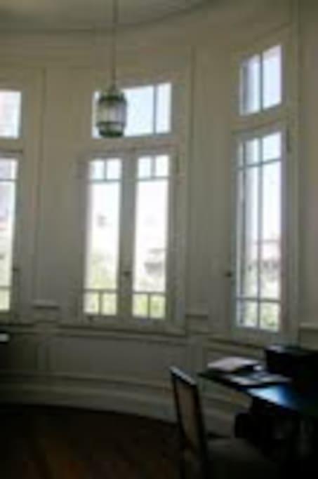 Privet room with big windows