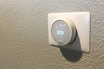 Nest controls for the heaters in each bedroom and the living room enable you to personalize your space to your preferred setting.