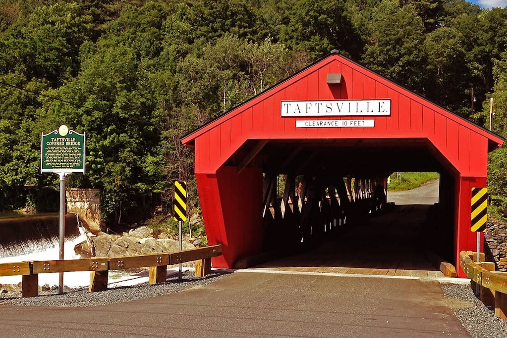 The Taftsville Covered Bridge across the street from the store!