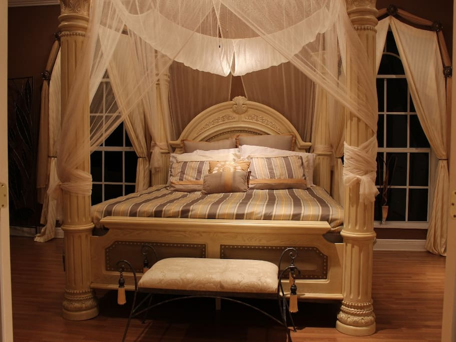 Master bedroom is gorgeous!(drapery no longer used)