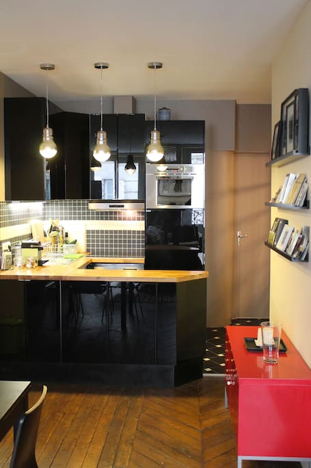 the kitchen where you can cook a meal