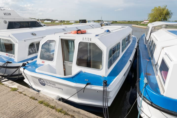 Norfolk Broads boating holiday -  Upton (boat ID)