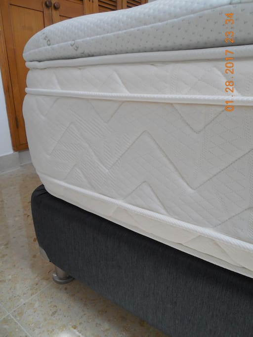 Brand new mattress and top quality memory foam topper
