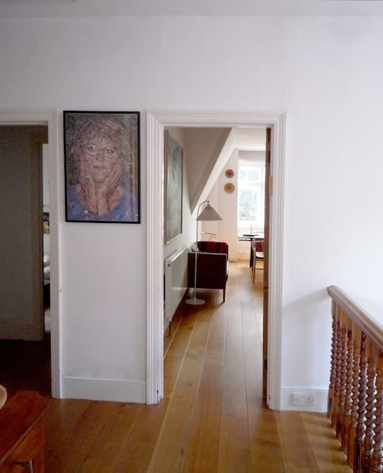 View from hallway into living-room.