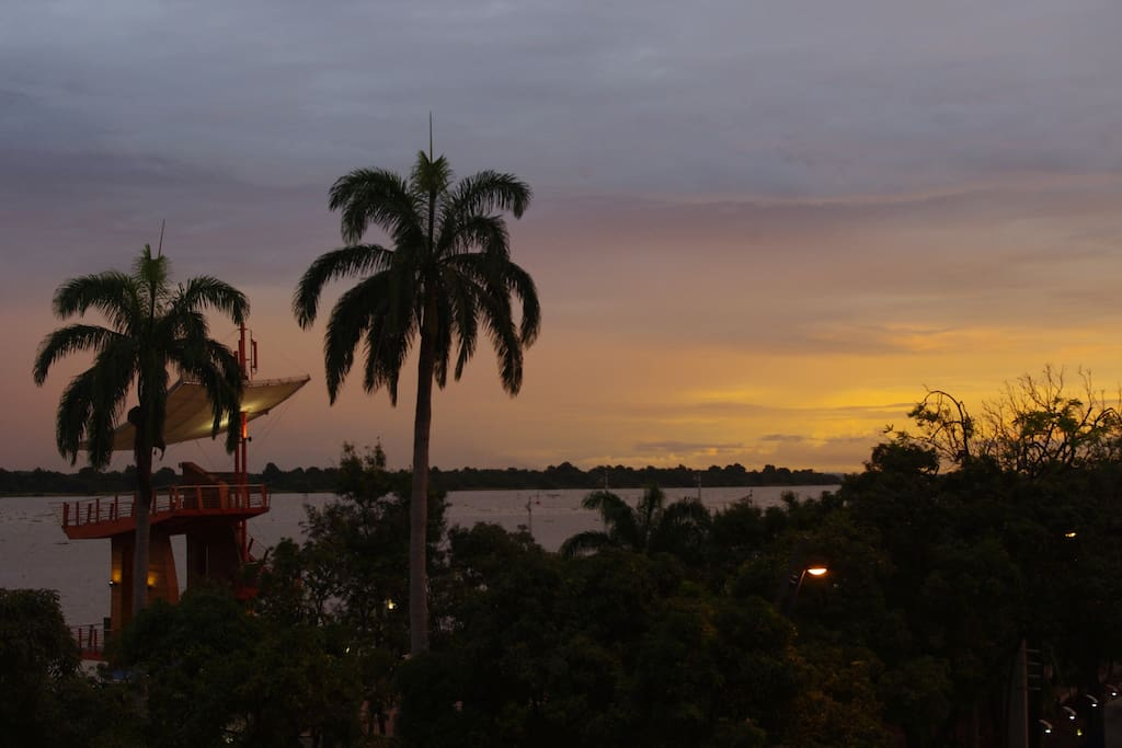 Vista desde los balcones del Manso