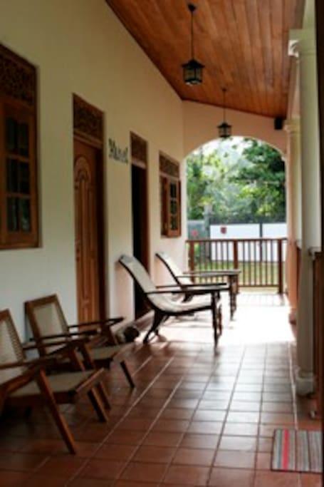 The open veranda