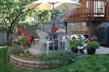 Backyard Patio - Join us on the back patio.