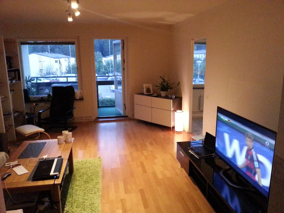 Living room with Swedish and satellite channels