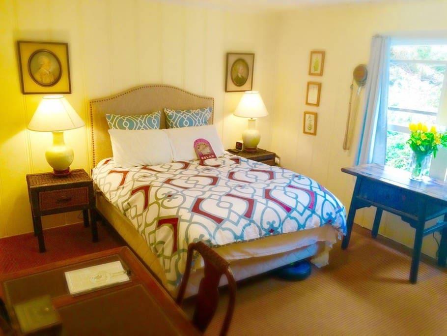 Upstairs bedroom oasis.