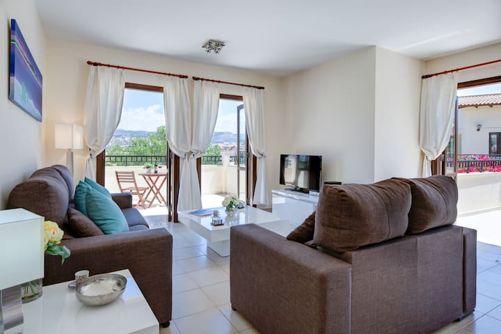 A large comfortable place to relax and take in the stunning mountain views