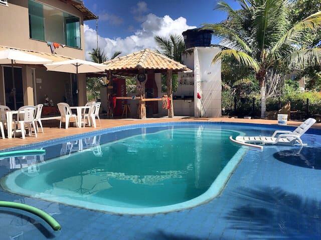 Casa com PISCINA praia de  Saquaíra Maraú-BA