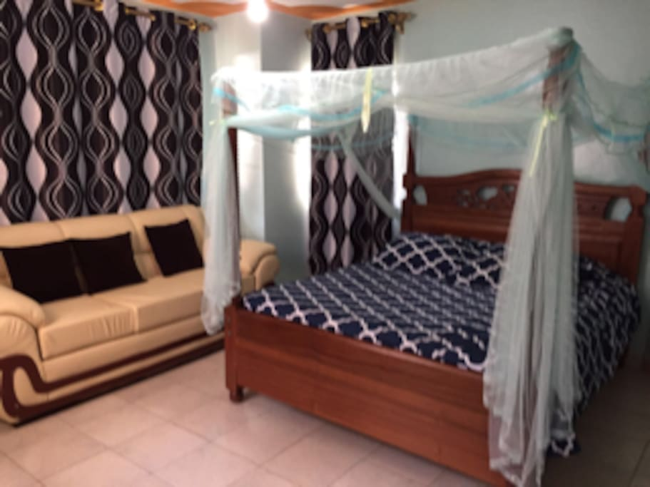 Sample bedroom.  All bedrooms are spacious with private facilities.