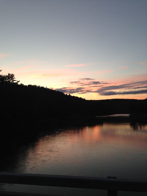 Beautiful sunsets on the Clarion River.