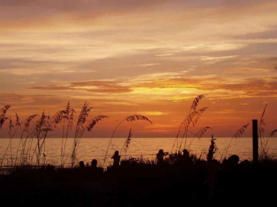 St Pete beach sunset.