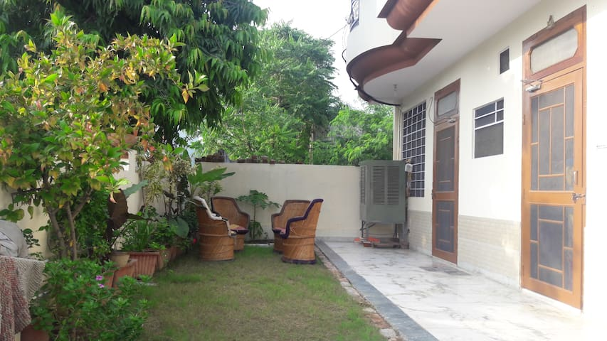 Garden with sitting space