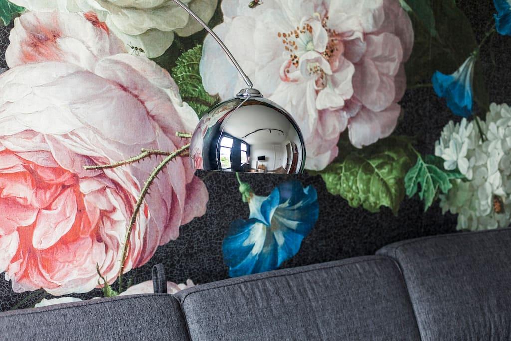 behang/artwork in living room