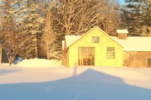 Winter seen on the farm and coming attractions of a new Airbnb cottage