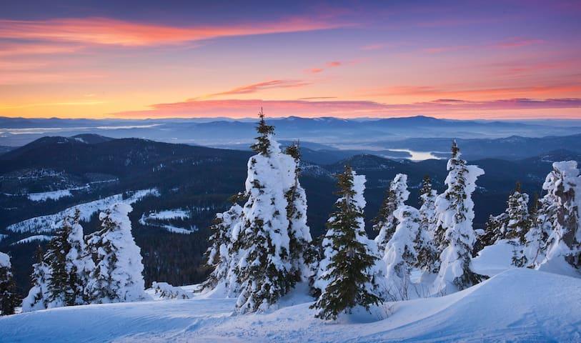 Local Skiing is incredible!  Mt. Spokane Views