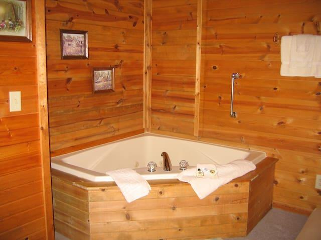 Rustic Whirlpool Cabin