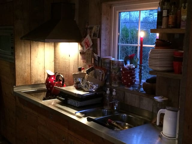 Sloophouten keukentje