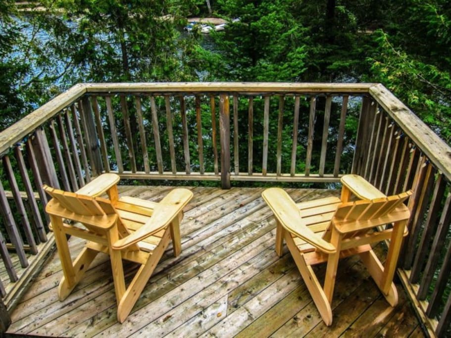 Extensive decking throughout the property