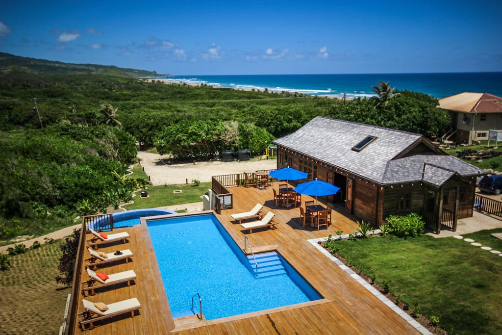 Sweeping views of the rugged East Coast of Barbados