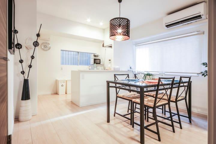 Luxury 2bed rooms 3double beds 2pocket Wi-Fi - Shibuya-ku - Huoneisto