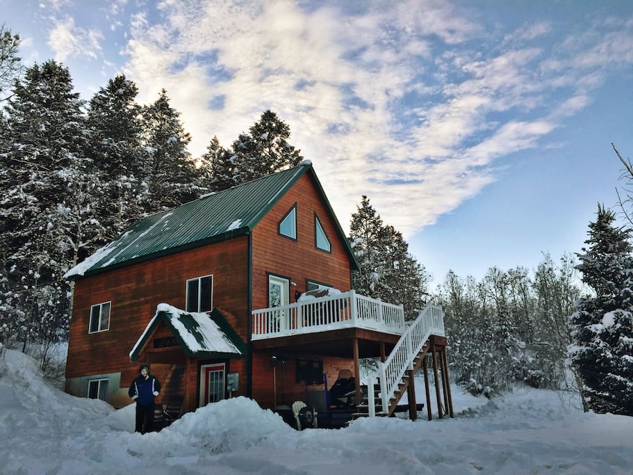 Mountainside cabin w wifi chalet in affitto a star for Stazione di jackson hole cabin