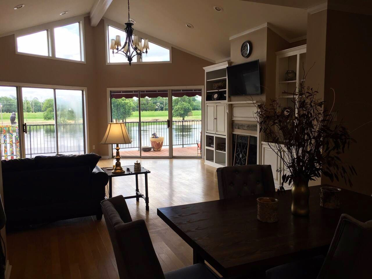 A view of the Ouachita River from the kitchen/living room.