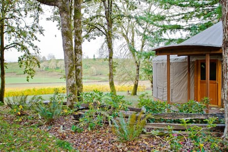 Yurt Glamping on Historic Vineyard - Elkton - Yurt