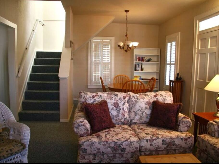 Living Dining room and stairs to upstair loft