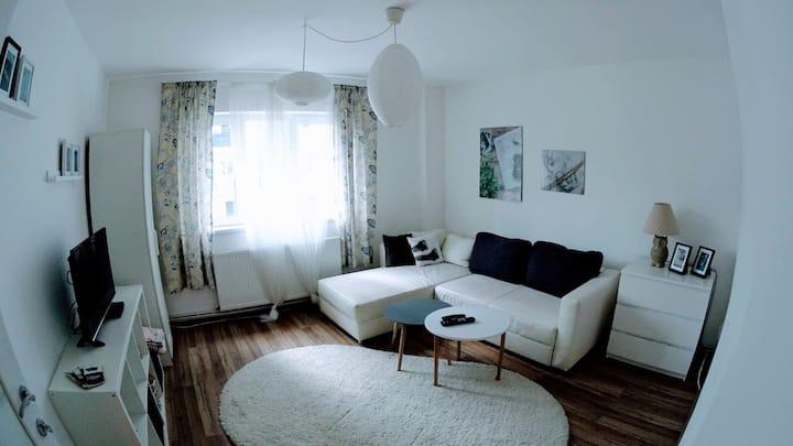 Modern apartment, 1 bedroom + livingroom