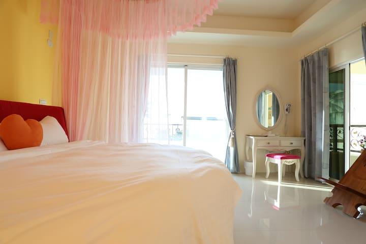 太魯閣海灣海景雙人圓床房 - Xincheng Township - Apartament