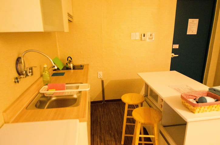 Spacious Studio type Twin room near Hongdae