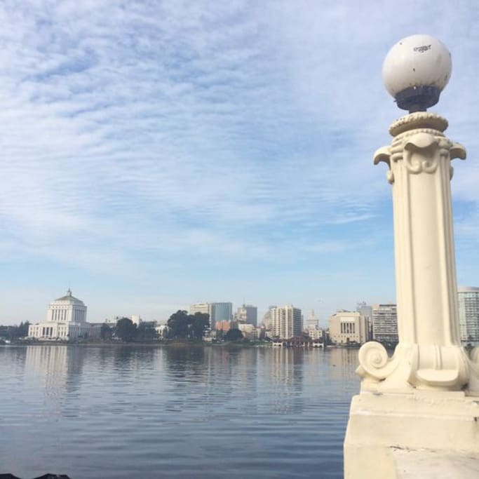 Just one block away from gorgeous Lake Merrit.