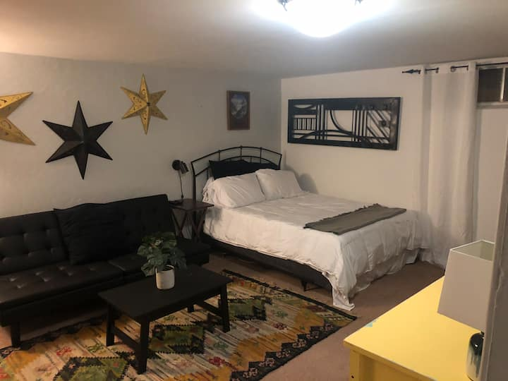 Unique basement studio apartment
