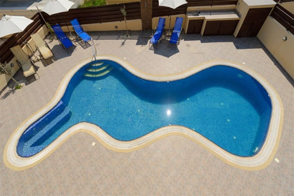 Over view of pool area.