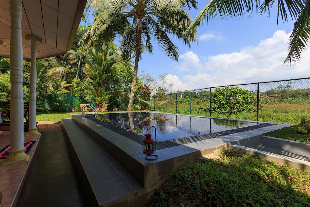 Relax in the pool with stunning views