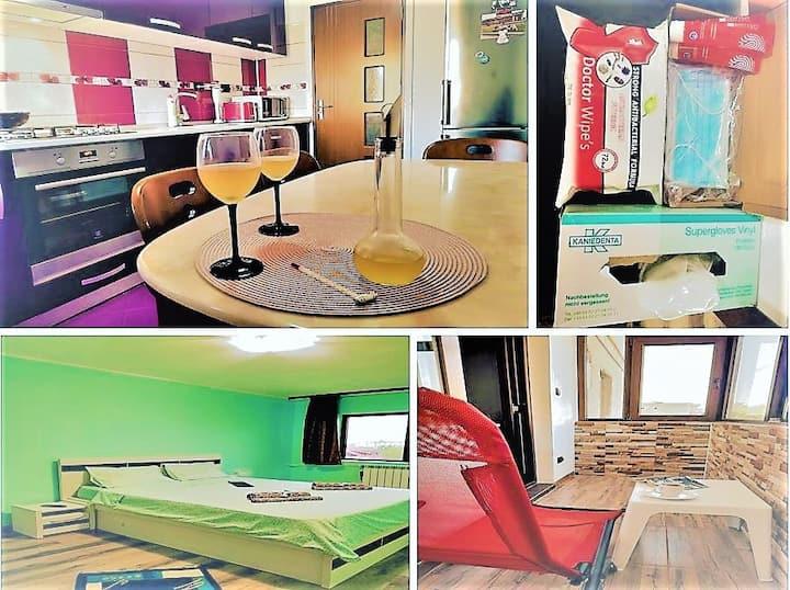 C Apartment (3min. to beach)