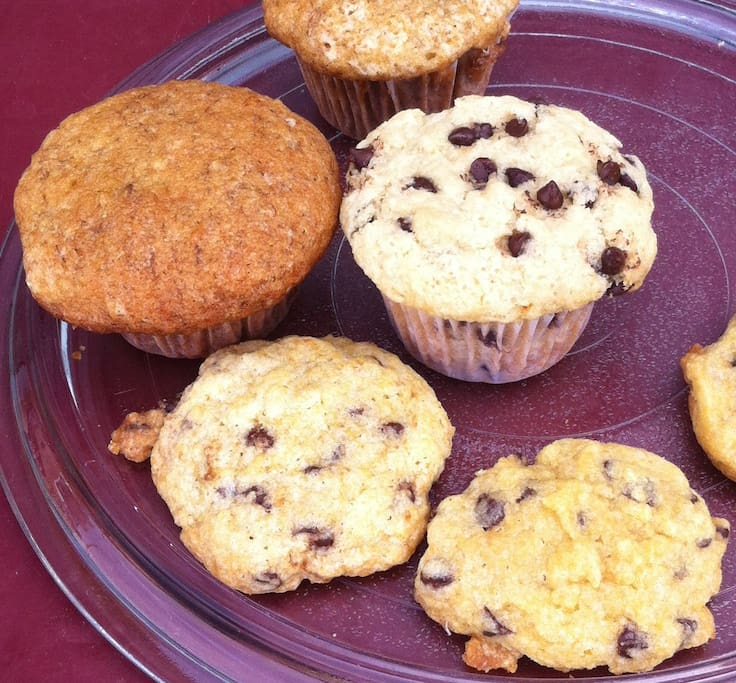 muffins, cookies available in the cafe also. again, nothing like this anywhere in chicama.