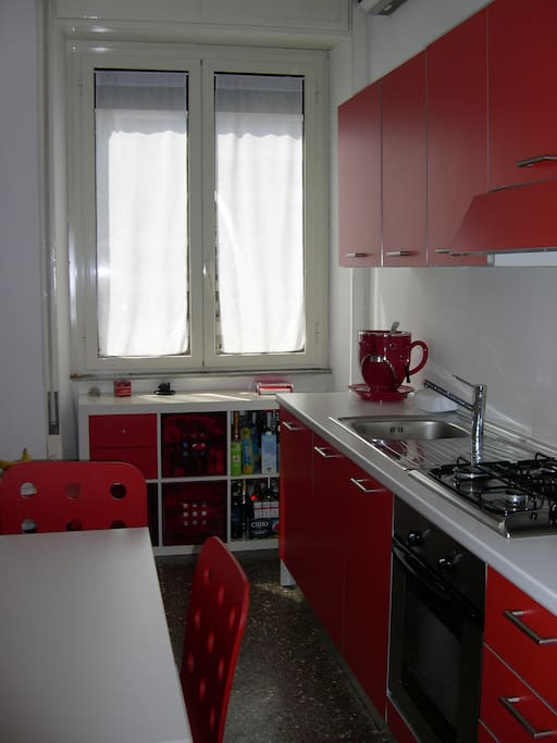 A new colorful full equipped kitchen!