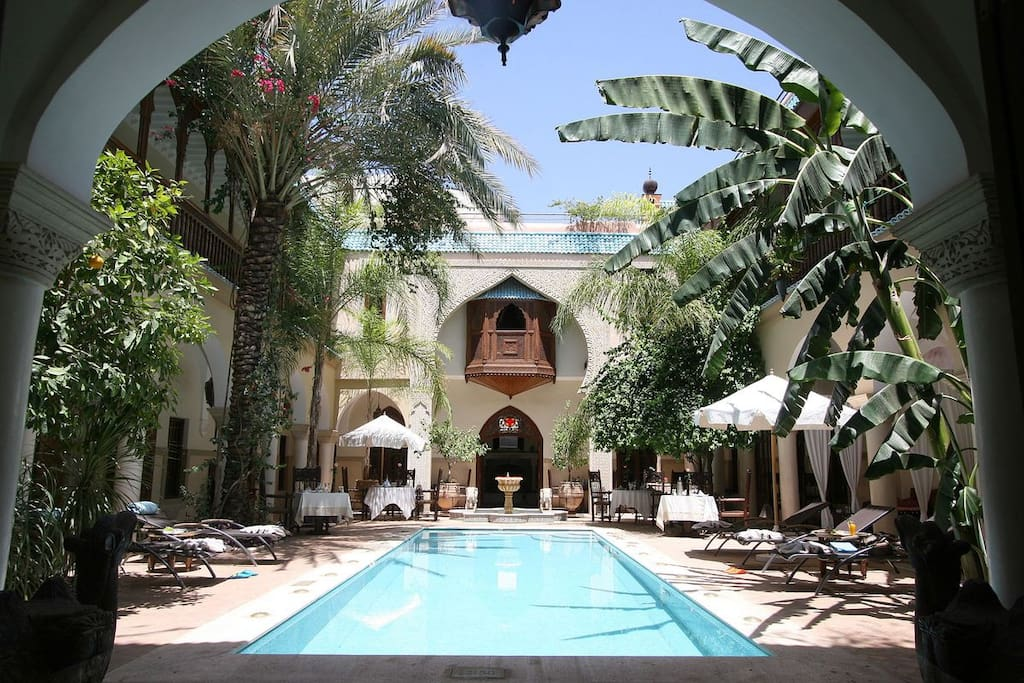 Luxury riad spa marrakech chambres d 39 h tes louer for Chambre d hotes marrakech