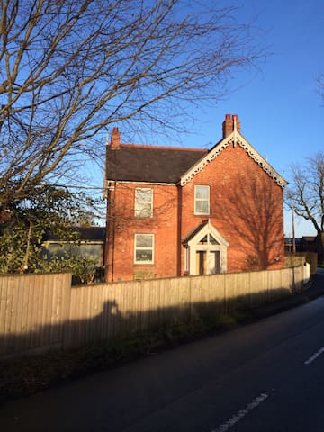 Our house in the winter sun!