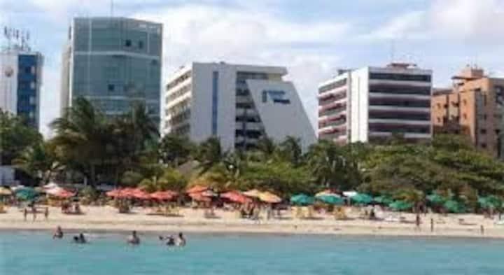 Flat beira mar em Hotel na praia de Pajuçara