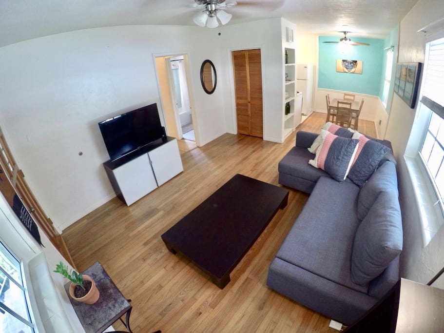 Overview of Living room and dining area