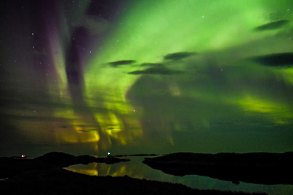 This picture is taken by one of our airbnb guests that had great luck with seeing northern lights in late september