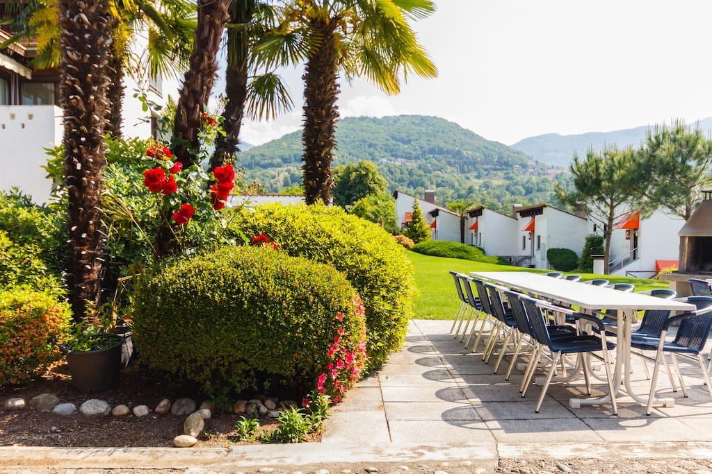 Sitzplatz im Freien, BBQ auch für Gäste, Aktivitäten in der Ferienresidenz